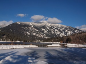 A cold, hard blue winter's day in the Kootenays