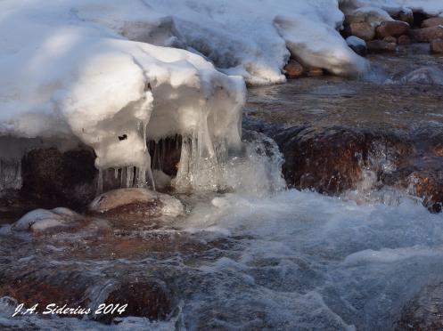 Kokanee Creek: Ice and Frigid Water