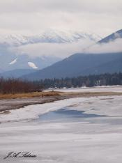 Kokanee Beach in Winter